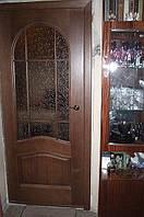 """Двери межкомнатные шпонированые дубом """"Полукруг"""", фото 1"""