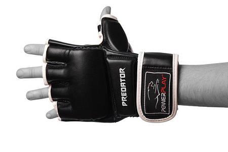 Перчатки для MMA PowerPlay 3056 Черные PU