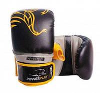 Снарядные перчатки PowerPlay 3038 Черно-желтые PU