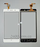 Тачскрин Bravis X500 (сенсор) - touchscreen для телефонов Бравис Х500 Трейс Про (X 500 Trace Pro) белый