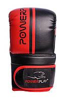 Снарядные перчатки PowerPlay 3025 Черно-красные PU