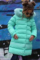 Зимнее пальто Деника,мех песец