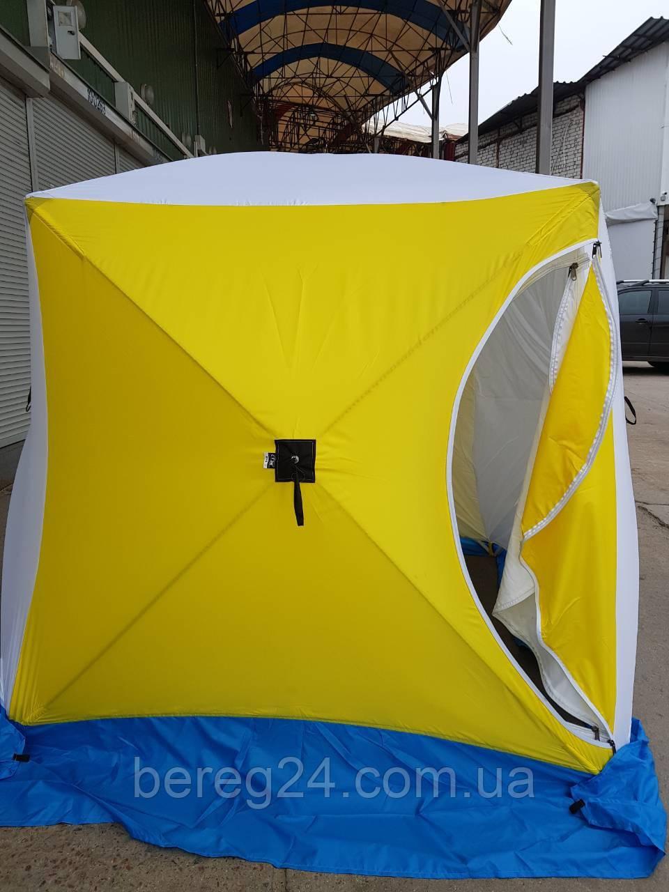 Зимняя палатка для рыбалки Стэк Куб-3 OXFORD 300 2 слойная 220х200 см