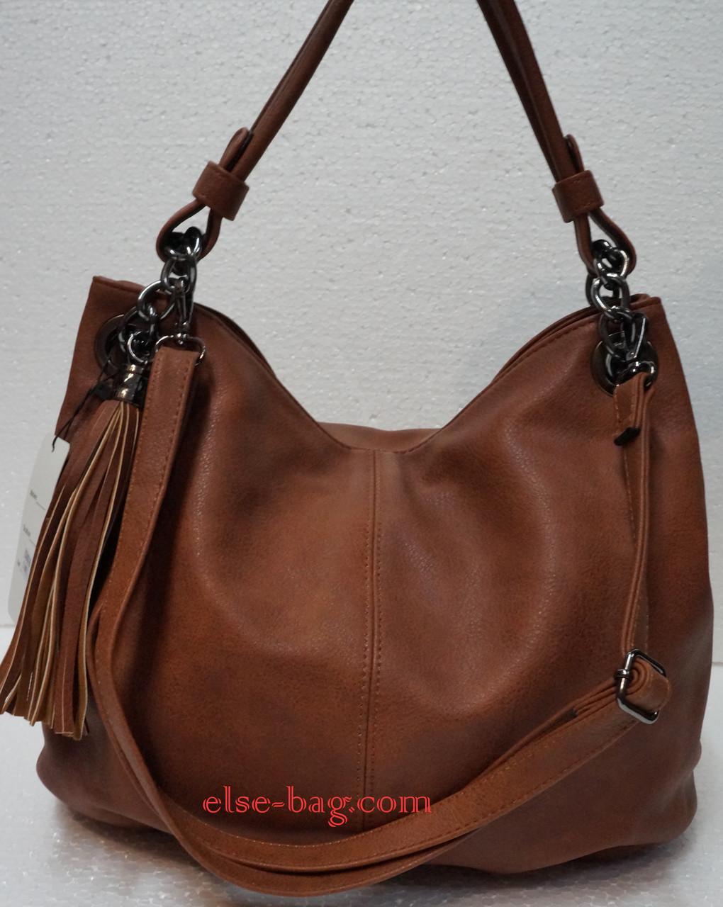 Рыжая мягкая сумка