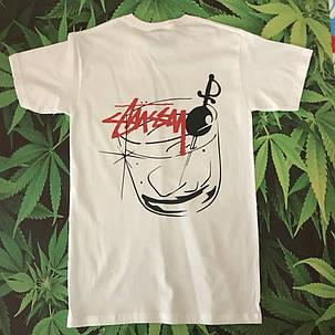 Белая футболка Stussy. Люкс . Ориг бирка, фото 2