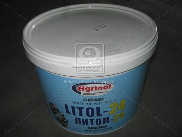 Смазка Литол-24 Агринол (Ведро 10л/9кг), 4102789964