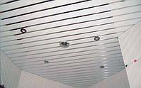 Монтаж реечных потолоков