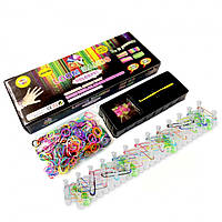 Набор rainbow loom bands для плетения 600 резиночек