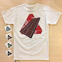 Palace Chocolate футболка • Бирка печать • Живые фотки
