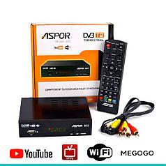ТВ-тюнер Aspor 603 ресивер для цифрового телевидения T2