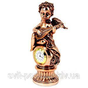 Фигурка ангел с часами - фото