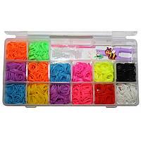 Набор для плетения rainbow loom bands 1500 резиночек
