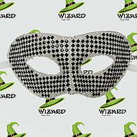 Венецианская маска из кристаллов (черная), фото 1