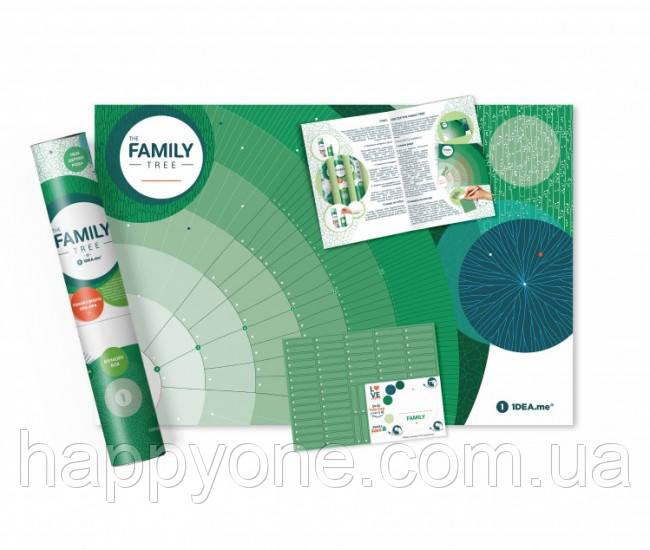 Интерактивный постер «Family Tree» (русский язык) в тубусе