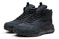 Зимние мужские ботинки на меху в стиле Nike Air, серые . Код товара: KW - 30294