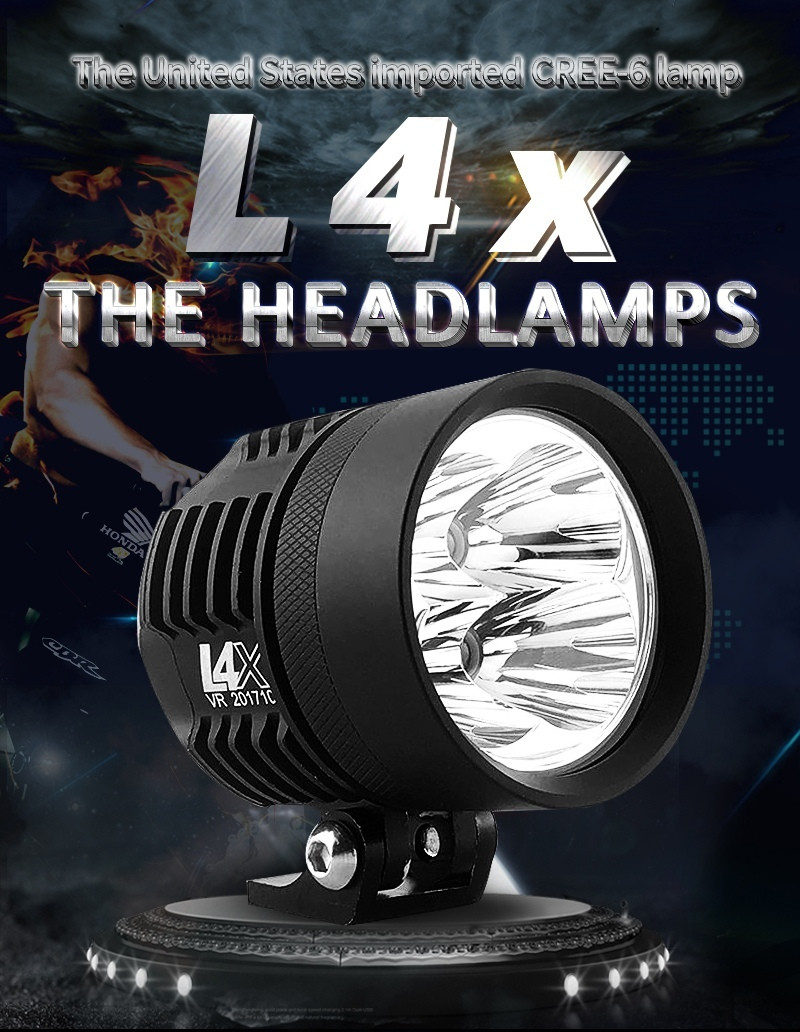 Новые супер яркие LED фары L4x  40 Вт (80 Вт пара) 7800LM для мотоцикла