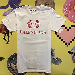 Топовая, белая футболка Balenciaga. Мужская и женская. Топовые бирки., фото 2
