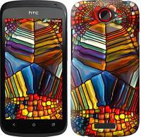 """Чехол на HTC One S z560e Разноцветный витраж """"3343c-226-328"""""""
