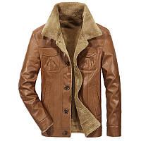 Куртка для мужчины зимняя или осенняя! Светло-коричневая куртка с мехом внутри!, фото 1