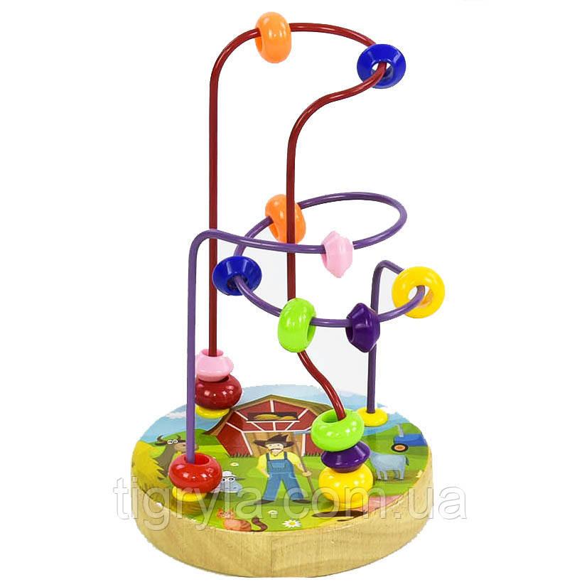 Деревянный игрушка пальчиковый лабиринт