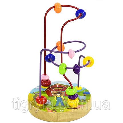 Деревянный игрушка пальчиковый лабиринт, фото 2