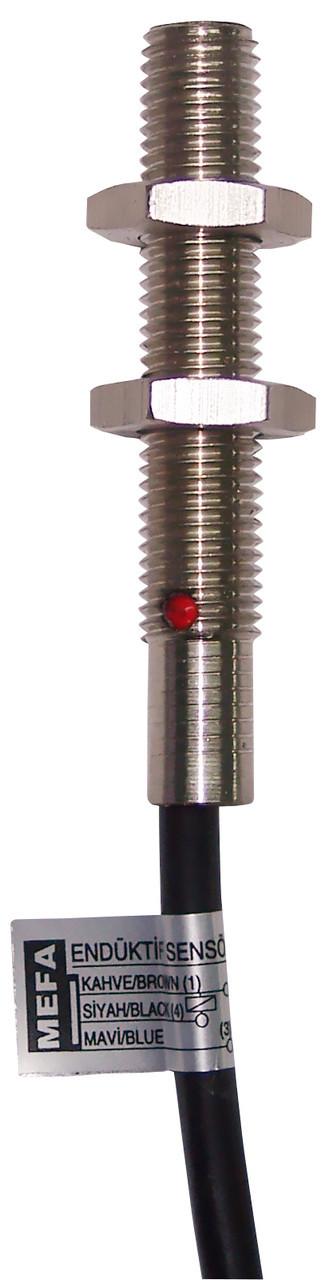 Индуктивный датчик типа NAMUR с светодиодом, металлический, 2-х проводный,кабельный, DС