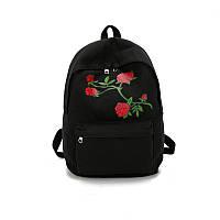 Товар с дефектом.Черный рюкзак Розы, фото 1