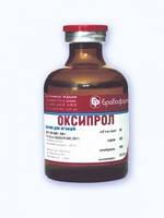 Оксипрол 10 мл ветеринарный антибиотик для лечения КРС, свиней, кроликов и птицы