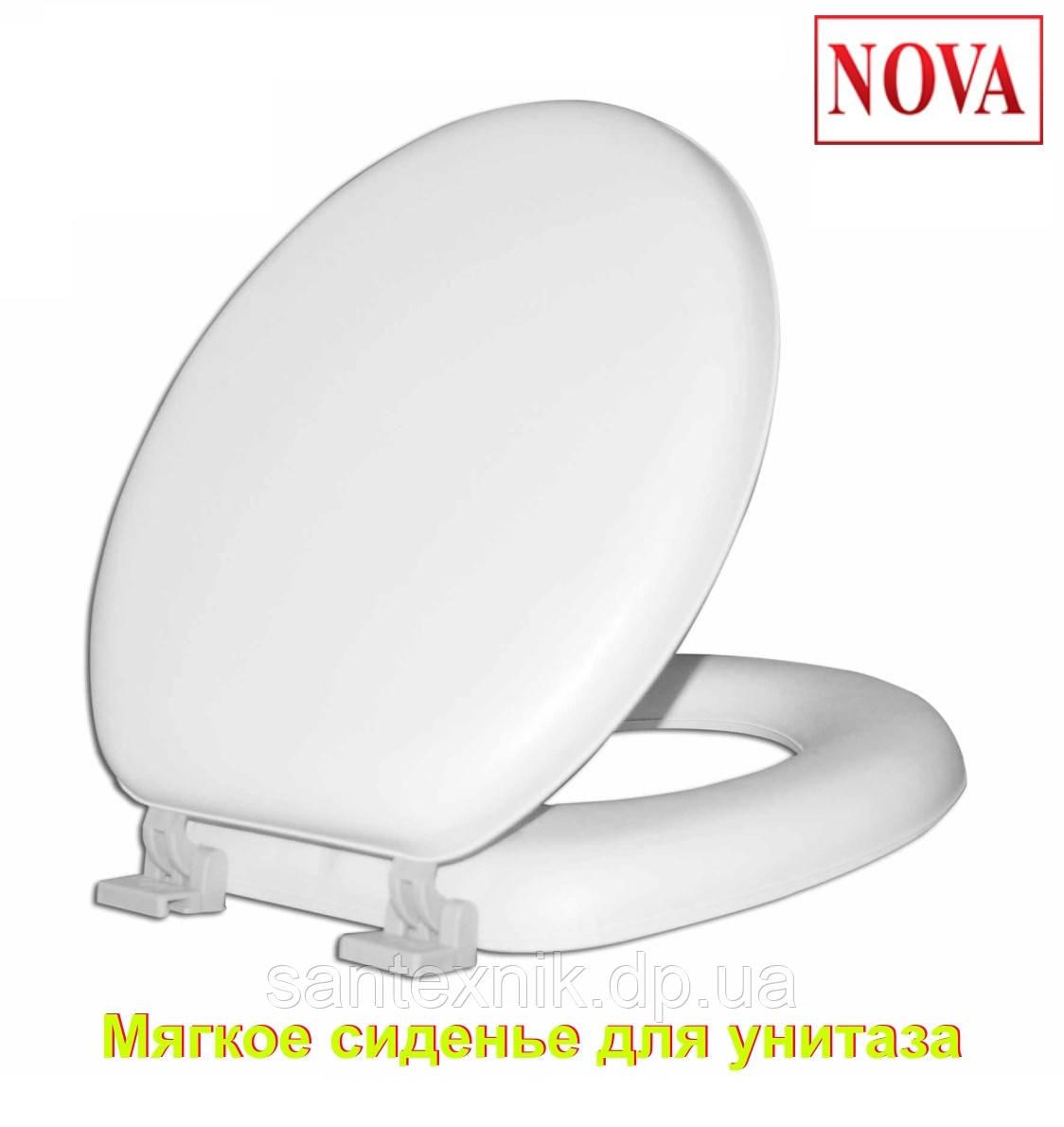 Сиденье с крышкой мягкое Комфорт NOVA