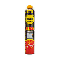 Клей-Пена монтажная Budmonster Mega Prime профессиональная для пенопласта 800 мл, 960 г (64176)