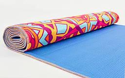 Коврик для йоги и фитнеса Замшевый PVC двухслойный 3мм SP-Planeta FI-6880-7, фото 3