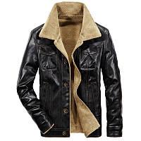 Куртка для мужчины зимняя или осенняя! Черная куртка с мехом внутри!, фото 1