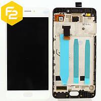 Экран дисплей Meizu M6 Белый,рамка + модуль LCD + сенсор