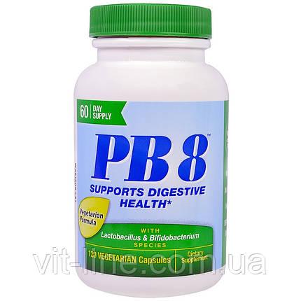 Nutrition Now, PB8, пробиотический ацидофилус для жизни, 120 капсул в растительной оболочке, фото 2