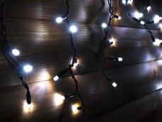 Гирлянда DELUX ICICLE 90LED 2x0.5 синяя/черный кабель, внешняя, фото 3