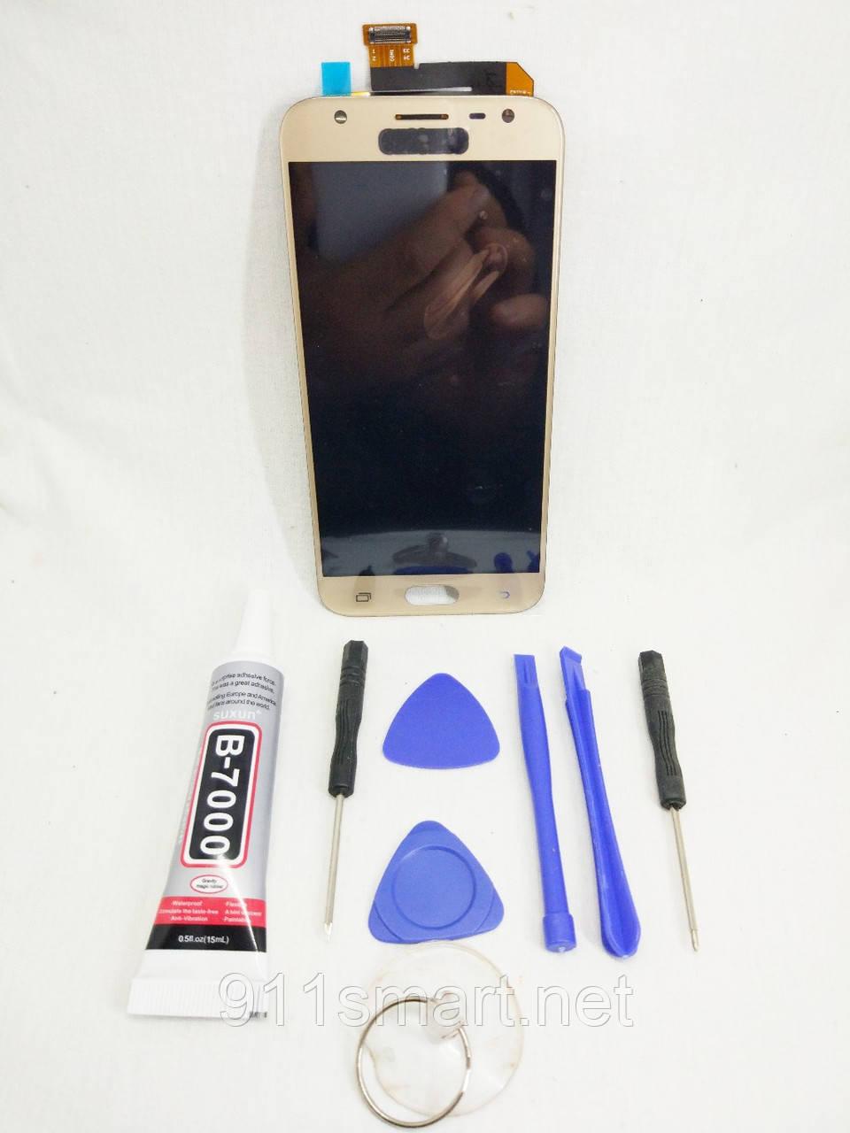 Экран оригинальный дисплей, модуль Samsung Galaxy J3  J330 gold