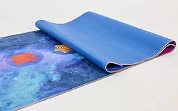 Коврик для йоги и фитнеса Замшевый PVC двухслойный 6мм SP-Planeta FI-6873-3, фото 3