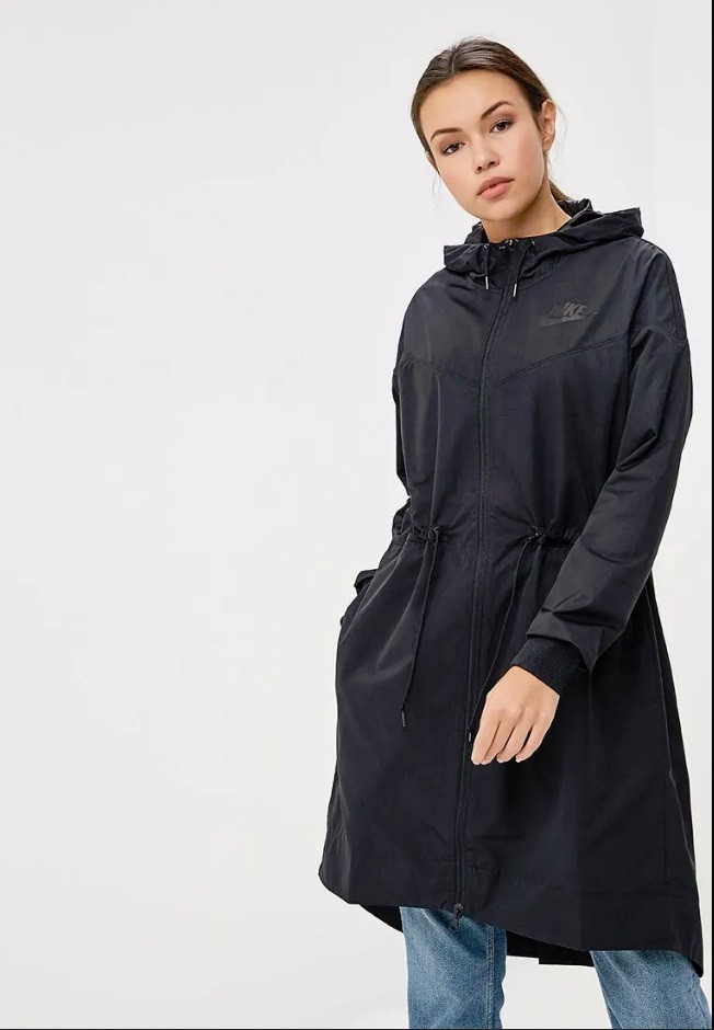 6e709253 Женская ветровка Nike NSW Jacket Long Novelty 932059-010 - Интернет-магазин
