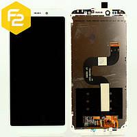 Экран дисплей Xiaomi Mi A2 Белый, рамка + модуль LCD + сенсор