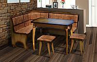 Уголок кухонный + стол+ табуретки Даллас ( дерево Бук)Микс мебель