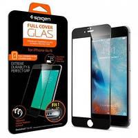 Защитное стекло Spigen для iPhone 6S / 6 Full Cover, Black (SGP11589), фото 1