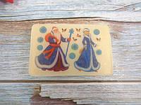 Мыло с картинкой «Дед Мороз и Снегурочка» прямоугольное (2 варианта), фото 1