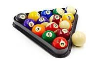 Шары для бильярда  (d-57,2мм, в компл. 16 шаров, цветные)