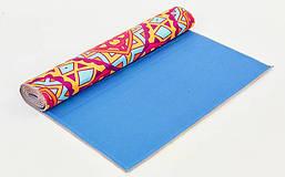 Коврик для йоги и фитнеса Замшевый PVC двухслойный 6мм SP-Planeta FI-6873-7, фото 2