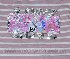 """Футболка длинный рукав для девочки 128-140-152-164 рост, """"Blueland"""" Турция, фото 3"""