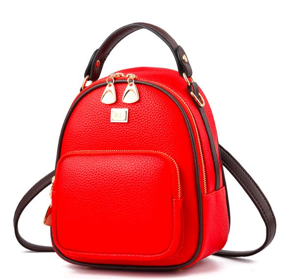 Рюкзак женский кожзам мини сумка Belladonna Красный
