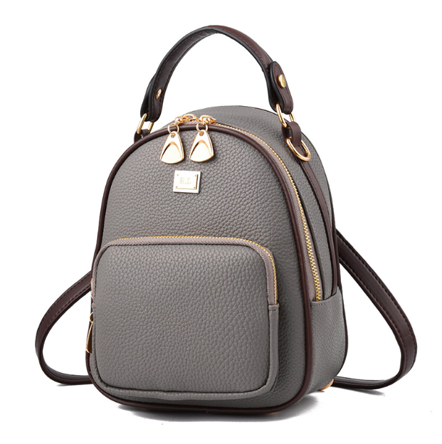 Рюкзак женский кожаный Belladonna Серый