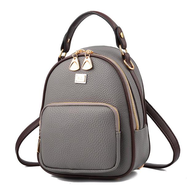 5f68d85dec74 Купить Рюкзак женский кожзама мини сумку Belladonna Серый недорого в ...