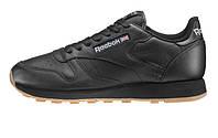 Оригинальные кроссовки Reebok Classic Leather Black/Gum (АРТ. 49800)