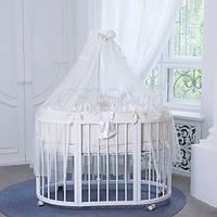 Постельный комплект для овальной круглой кроватки ТМ Маленькая Соня All  Baby кофейный f017474515d53